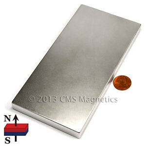 "Neodymium Magnets Grade N42 6x3x1/2"" Super Strong NdFeB Rare Earth 1 PC"