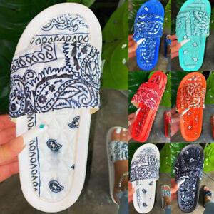 Boho Women/'s Summer Flat Sandals Beach Slider Slipper Casual Shoes Mules Size