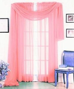 Image Is Loading 3PC 2 SHEERS LIGHT PINK WINDOW CURTAIN PANELS