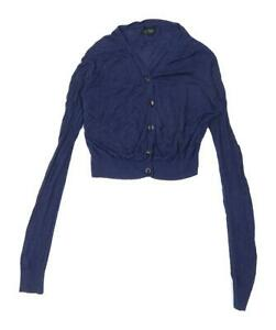 Topshop-Womens-Size-10-Blue-Cardigan-Regular