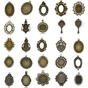 Cabochon-New-Setting-Pendants-Bronze-Tone-M1415
