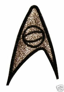 PATCH PAIR Star Trek TOS insignia Science Engineering /'70s vintage SPOCK SCOTTY