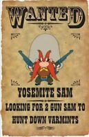 Yosemite Sam Wanted Poster Fridge Magnet. 4 X 5.......free Shipping