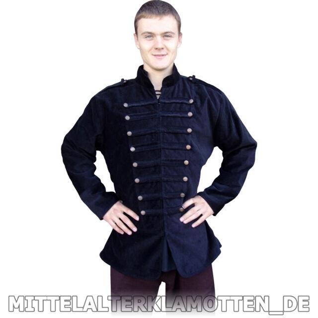 JACKE, S-XXXL, Uniform Piraten Jacke Mittelalter Gothic Militär Uniformjacke