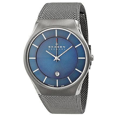 Skagen Blue Dial Titanium Mens Watch 956XLTTN