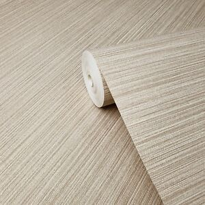 Wallpaper-gold-Textured-Plain-faux-grasscloth-horizontal-lines-wall-coverings-3D