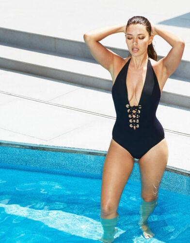 Avanti Icon Black costume Shaper Swimsuit Figleaves Occhiello 8 55 Sz £ Up Lace Bnwt xnCqS1w