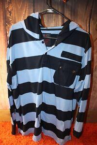 Swiss-Cross-Blue-Stripe-Polyester-XXL-Men-039-s-Shirt-Hoodie
