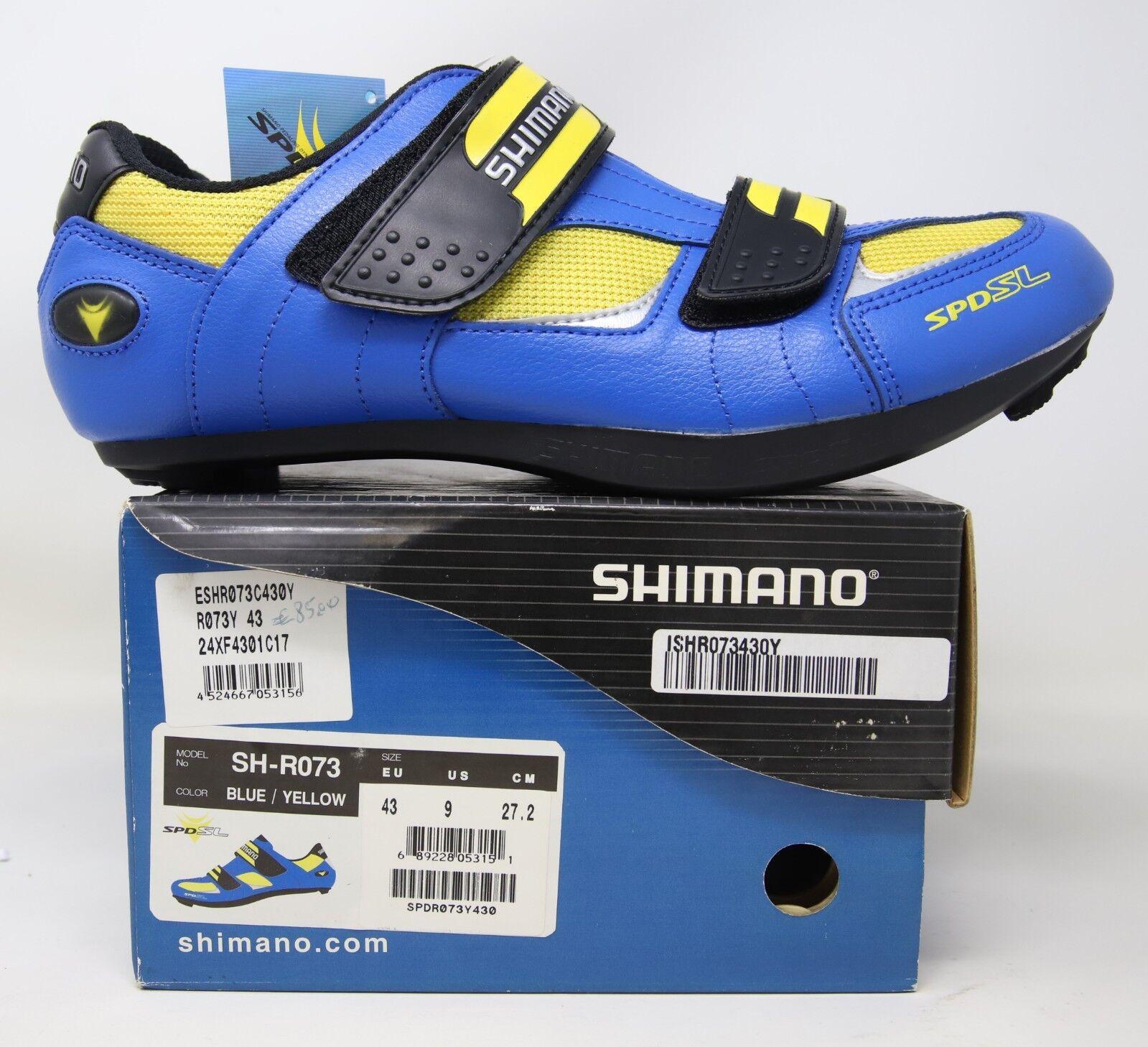 NOS SHIMANO SPD-SL CYCLING SHOES SH-R073 SIZE 43 US NIB