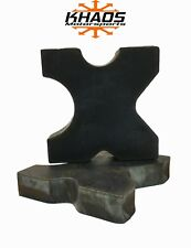 "20 TON STEEL SHOP PRESS BED PLATES, H-Frame Arbor 4 notch 1""X 5""X 5"" Set"