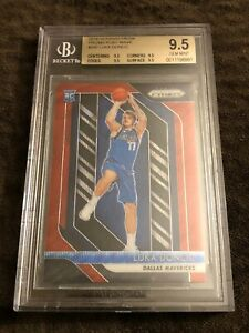2018-19-Luka-Doncic-Prizm-Ruby-Wave-Rc-BGS-9-5-True-GEM-Mint