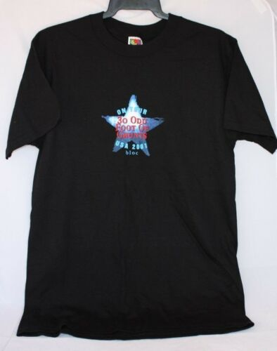 Tour Dates Russell Crowe TOFOG  Black On Tour USA 2001 BLOC T-Shirt