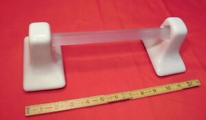 "*Bone-Almond* Glossy Ceramic Towel Bar Brackets-Post+24/"" pole-bar   New Stock"