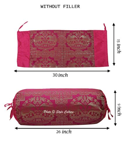 Bohemian Indian Yoga Bolster Pillow Cover Cylinder Neck Roll Cushion Tube Pillow