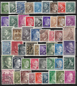 GERMANY-ADOLF-HITLER-ERA-STAMP-COLLECTION-PACKET-50-DIFFERENT-Stamps-Mint-amp-Used