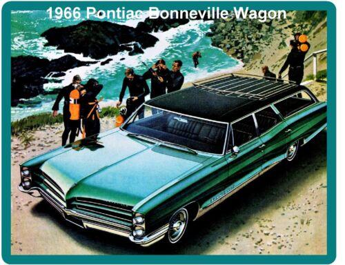 Tool Box  Magnet 1966 Pontiac Bonneville Green Wagon Auto Refrigerator
