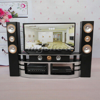 Dollhouse Furniture Living Room Accessories TV Theatre Set Combo For Barbie Cool