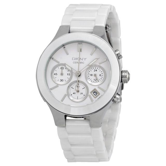 DKNY Chronograph White Ceramic Ladies Watch NY4912