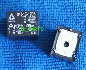 10pcs ORIGINAL 943-1C-12DS 5pins 12V 12A 125VAC Relays