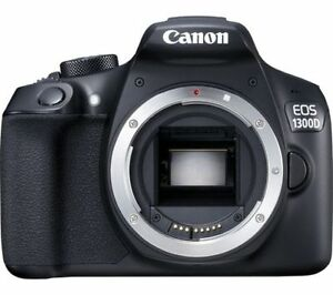 canon eos rebel t6/1300d dslr camera (body only) black