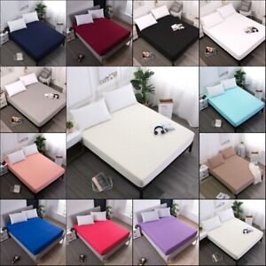 Waterproof-Mattress-Cover-Protector-Bed-Pad-Cover-Fitted-Sheet-Machine-Washable