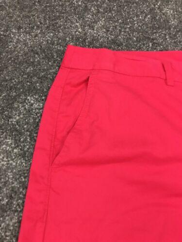 M/&S Mujeres Color de rosa caliente 100/% Algodón Pantalones Casuales Bnwt Talla 16 franqueo gratuito Sameday