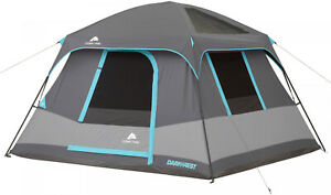 6-Person-Dark-Rest-Cabin-Tent-10-x-9-Portable-Instant-Shelter-Outdoor-Camp-Gray