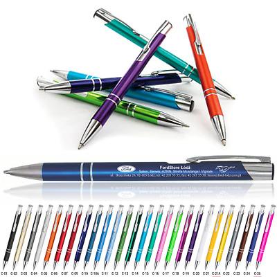 Metall Kugelschreiber mit individueller Laser Gravur Werbung 50 Stück
