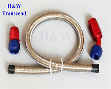 AN6 6AN Stainless Braided OIL FUEL Hose Line 3FT+STRAIGHT+45° SWIVEL FITTINGS