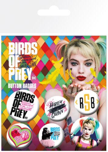 Birds of Prey Mix DC Comics 6 Pin Assorted Badges Trendy Badge Pack