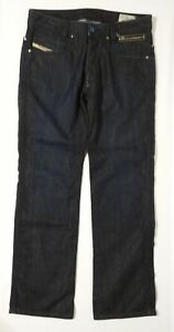 DIESEL-PADDOM-OO8EG-Blue-Dark-Wash-Button-Fly-Zipper-Denim-Jeans-Mens-30W-x-30L