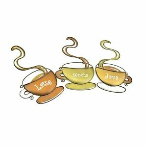 Coffee Cup Metal Wall Art Now with free UK P&P!