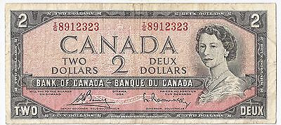 Bank Of Canada North & Central America Useful Canada 2 Dollars 1954 I/g 8912323 By Scientific Process
