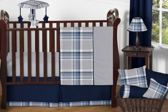 Navy Gray Baby Boy Plaid Affordable