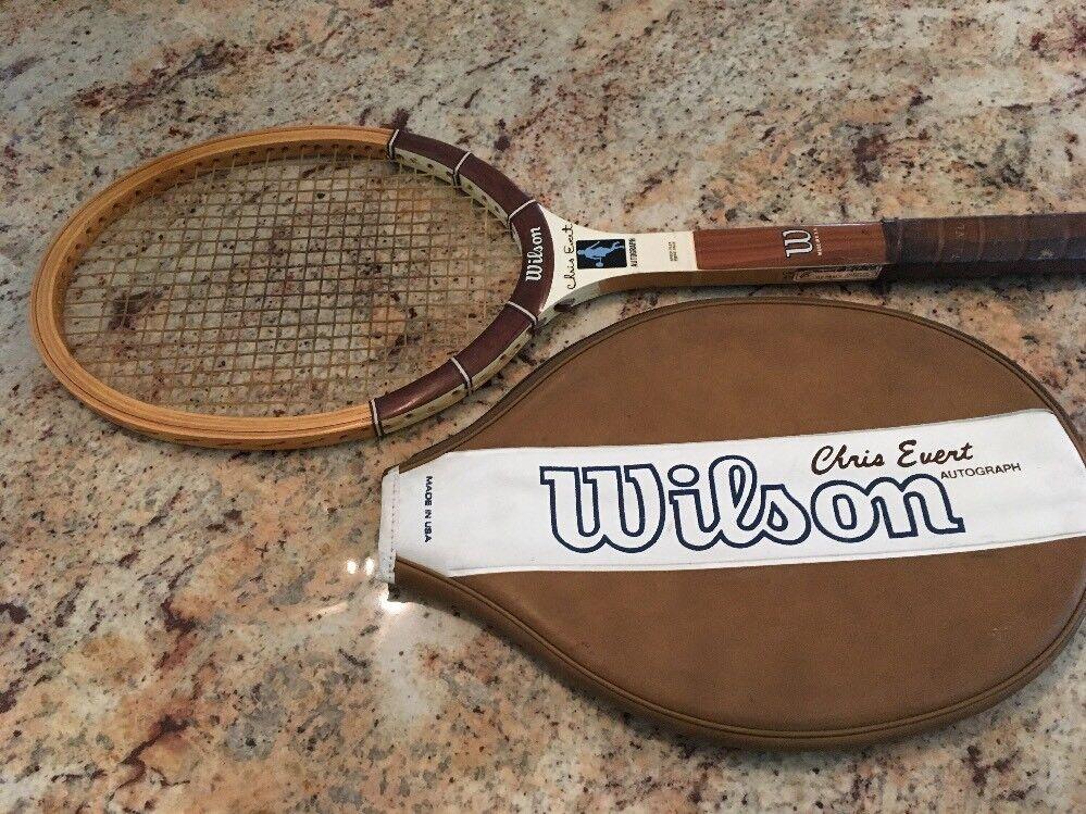 4e300dc46a VTG Wilson Chris Egreen Wood Tennis Racquet with Case 4 3 8 Grip B ...