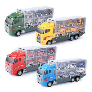 1X-Grand-Camion-et-6-PCS-Mini-Alliage-Miniature-Voiture-ModeLe-1-64-EChelle-O7E4