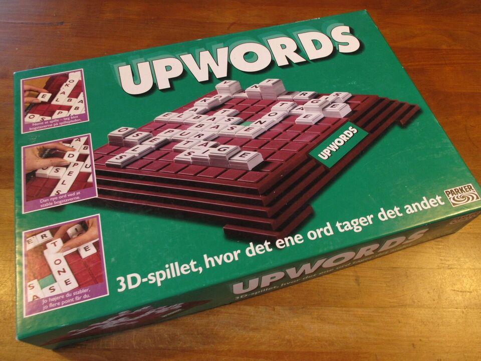 Upwords. 3D spillet, scrabble-variation, stavefejl