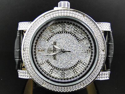 Mens Diamond Master Diamond Max 2 Row Black Yellow Genuine Diamond Watch 0.06 Ct