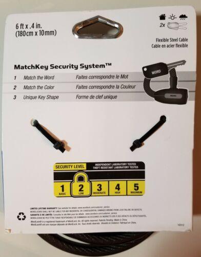 Wordlock matchkey sécurité correspondant à clé Et Câble CL-617-BK Noir