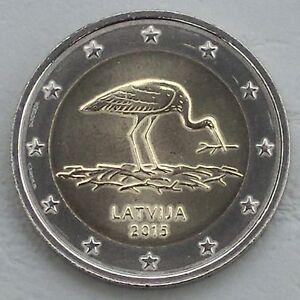 2-Euro-Lettland-2015-Schwarzstorch-unz