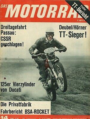 100% Wahr Motorrad 1965 14/65 Metisse Bsa A65 Rocket Ducati 125 4-zylinder Tourist Trophy Einen Einzigartigen Nationalen Stil Haben