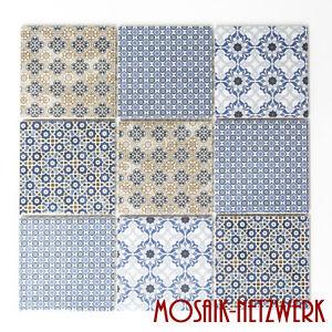 Mosaikfliese-Keramik-Spritzschutz-Fliesenspiegel-Vintage-Retro-22B-1404-b-1Matte
