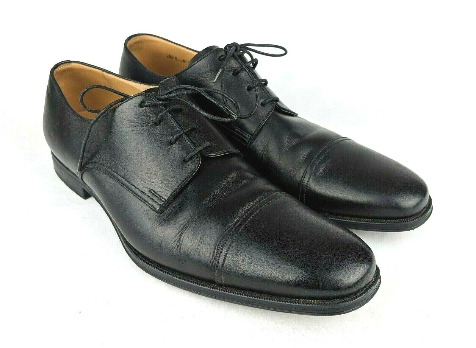 BALLY Tayson Black leather Cap toe Derby shoes Men's US 11.5 D Switzerland EUC