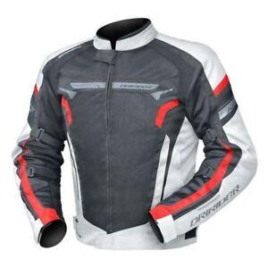 Mens DriRider Air Ride 4 Jacket Summer Vented Mesh Black White Red Ducati