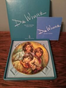 Royal-Doulton-039-Village-Children-039-Collector-039-s-Plate-Free-Shipping