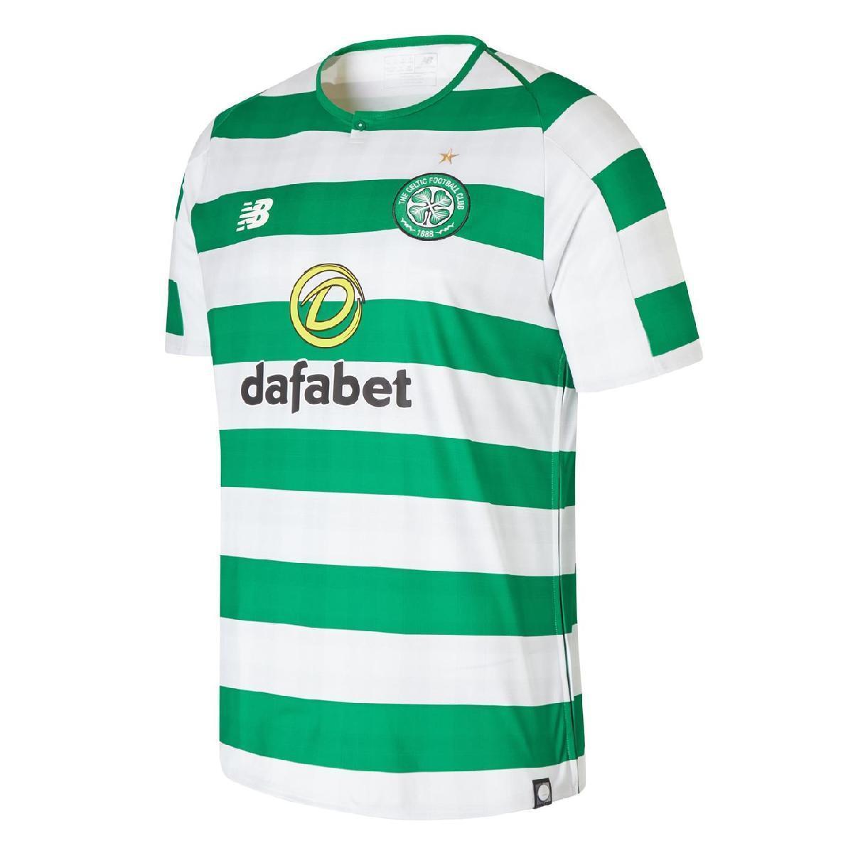 New Balance Celtic Fußball Trikot T-shirt Herren Home Shirt 2018 2019 70
