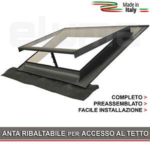 Lucernario-Finestra-per-tetto-BASIC-VASISTAS-55x45-Vetro-Temperato