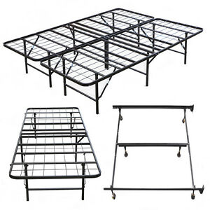 new metal bed frame platform mattress foundation twin high quality queen king. Black Bedroom Furniture Sets. Home Design Ideas