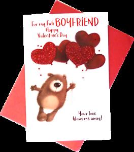 f8e8c331f3d79 318) Single Valentine Card - For My Fab Boyfriend Happy Valentine's ...