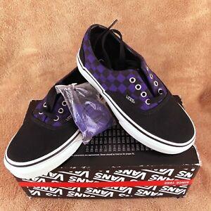 Détails sur Nouveau Vans Era Damier Chaussure De Skate Violet FoncéNoir Jeunesse 11.5Y afficher le titre d'origine
